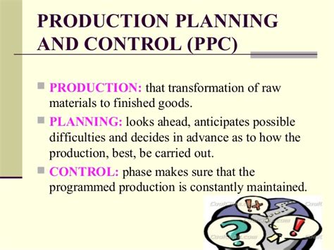 product layout for production planning and control production planning and control