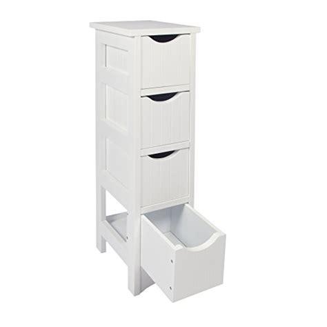bathroom storage units woodluv slimline mdf 4 drawer bathroom storage unit 19 x