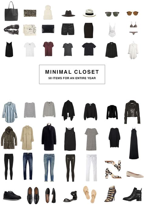 Minimalist Wardrobe by 50 Item Minimal Wardrobe 50 Items For The Whole Year