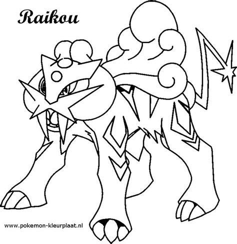 pokemon coloring pages entei raikou kleurplaat pokemon original image from http