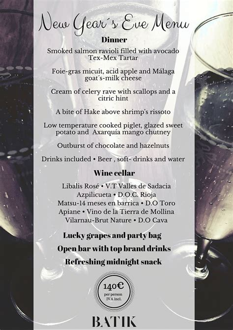 menus for new years do not miss the best new year s in m 225 laga s best hostel