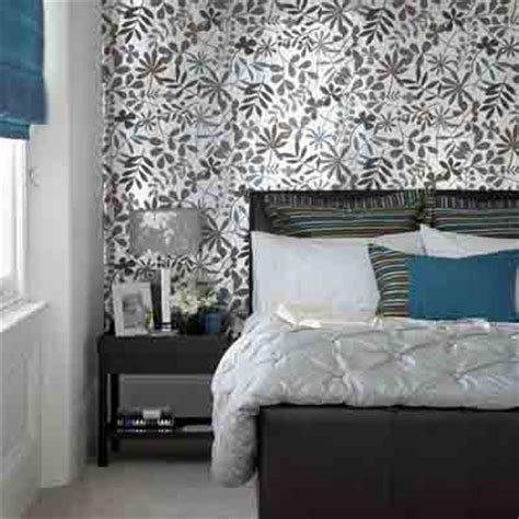 Bedroom Wallpaper In Black White And Gray One Wall Bedroom Wallpaper Decorating Ideas