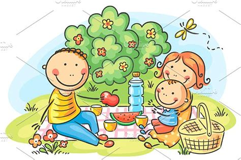 picnic clipart family picnic outdoor illustrations