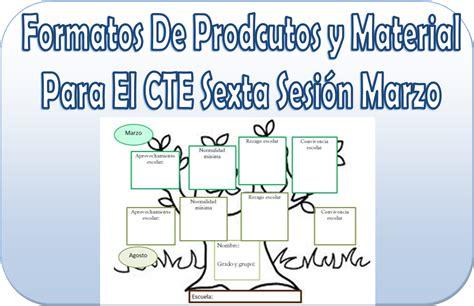 formatos de productos y material para la sexta sesin de cte marzo formatos de productos y material para la sexta sesi 243 n de