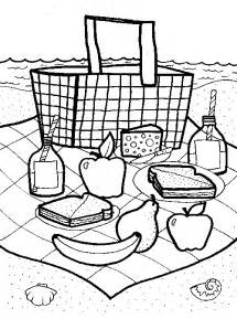 picnic coloring pages picnic goodies familycorner 174
