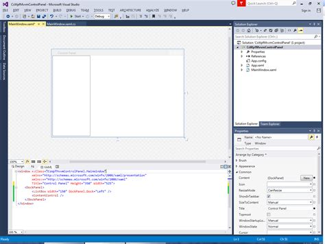 xaml layout basics programmer s ranch c wpf control panel using mvvm