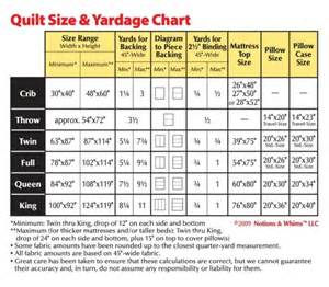 quilt size chart crafts pinterest