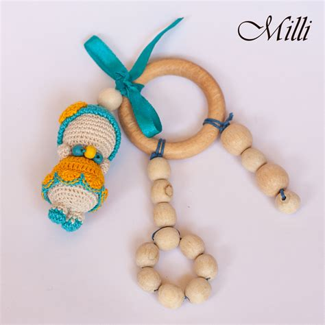 Handmade Infant Toys - baby quot teether with a dolly quot milli crafts israel