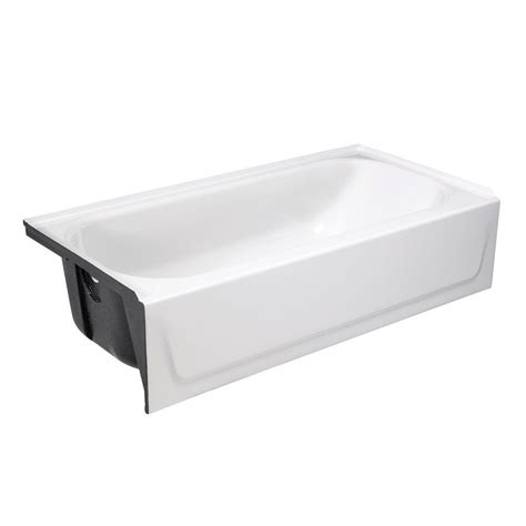 bootzcast bathtub bootz industries bootzcast 60 in left drain rectangular