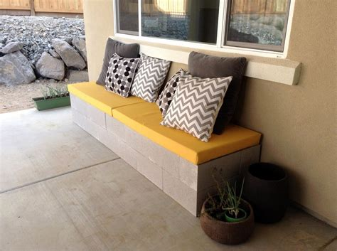 cinder block and wood bench cinder block bench for your home outdoor s beauty