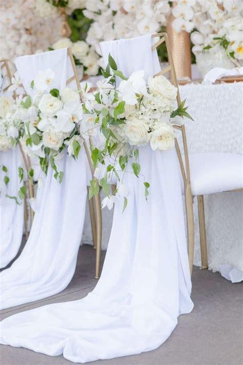 Chaise De Mariage by Chaise De Mariage Avec Des Fleurs Blanches Des Chaises
