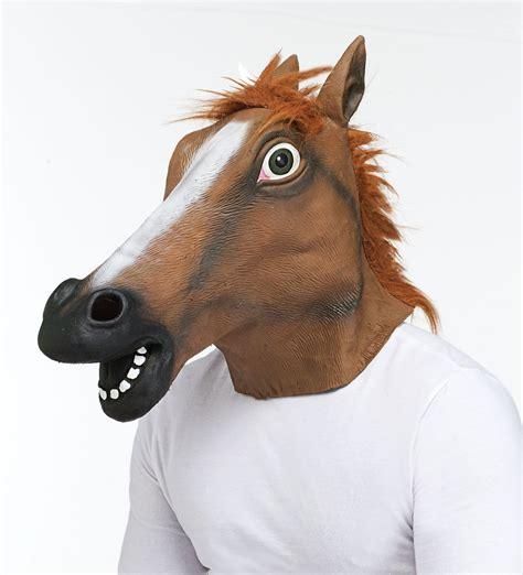 funny horse head mask funnymadworld horse head mask halloween