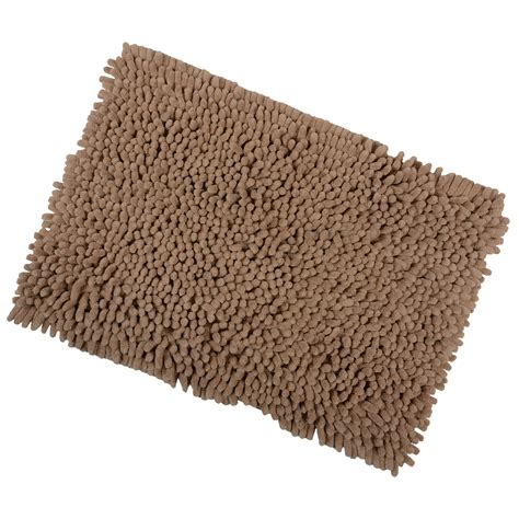 Bathroom Mats And Rugs Shaggy Microfibre Bathroom Shower Bath Mat Rug Non Slip Backing 12 Colours Ebay