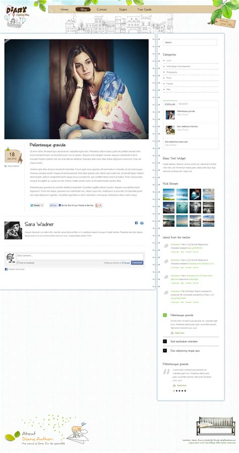 themes para blogger html diary responsive blog html theme by templaza themeforest