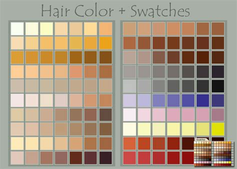 hair color swatches by deviantnep on deviantart