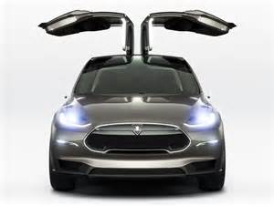 Tesla Electric Car Tesla Unveils The Model X The World S All Electric