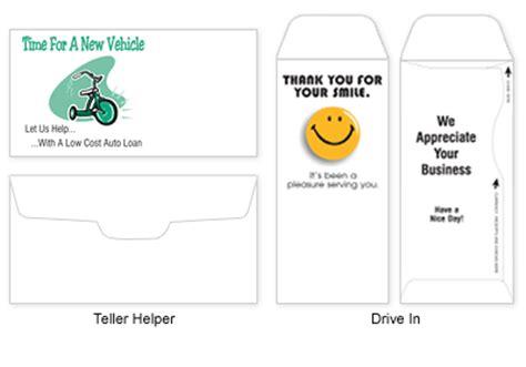 banking teller envelopes printing you can trust