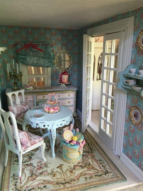 miniature dining room victorian dollhouse shabby chic