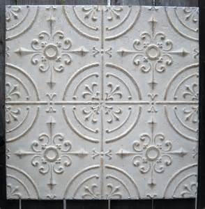Tin Ceiling Tiles 2 X2 Antique Ceiling Tin Tile Circa 1910 White