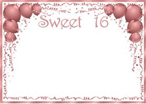 sweet 16 invitation card templates invitations for sweet 16 template best template collection