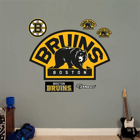 boston bruins home decor boston bruins alternate logo wall decal shop fathead