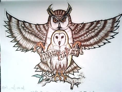 great horned owl tattoo collection of 25 flying horned owl design