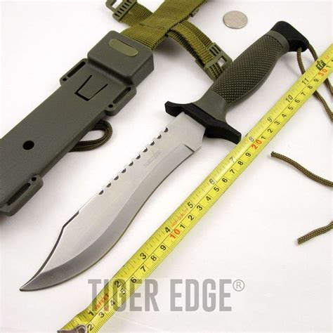12 bowie knife 12 quot silver survival bowie knife w abs sheath
