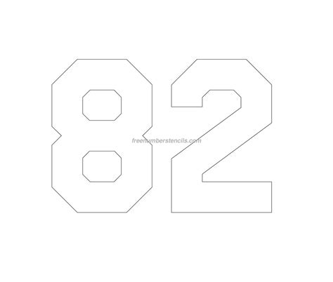 stencil template free jersey printable 82 number stencil