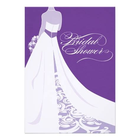 bridal shower invitations purple bridal shower