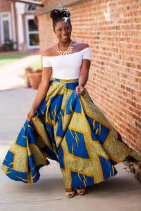 Obsessed with maxi skirts and dresses when it comes to african prints