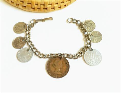 coin bracelet charm bracelet vintage coin by