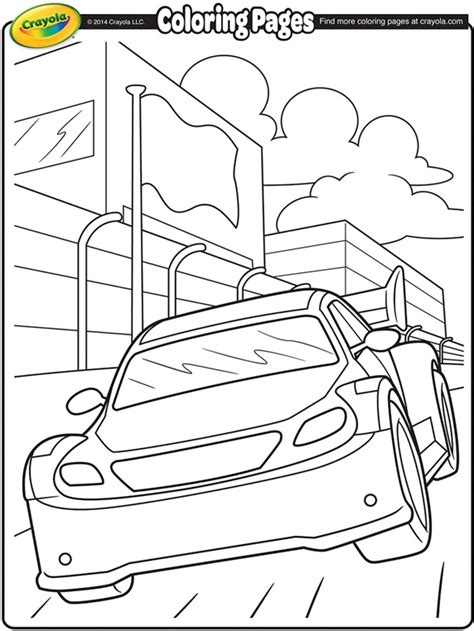 crayola coloring pages birthday nascar stockcar on crayola com coloring pinterest