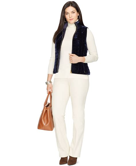 Quilted Vest Plus Size by By Ralph Plus Size Reversible Velvet Quilted