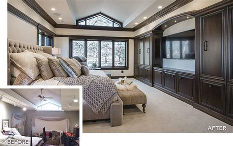 photo essay  luxurious retreat  completed master suite  urbandale silent rivers design