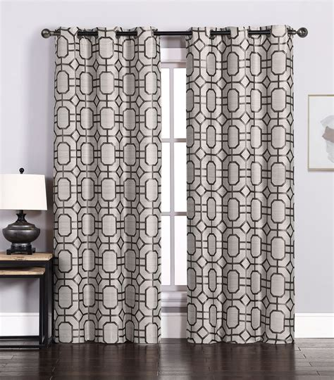 chocolate curtain panels pair of maritza jacquard taupe chocolate window curtain