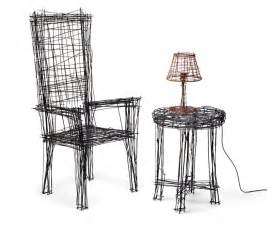 furniture design drawing jinil park materializes drawing furniture series using wire