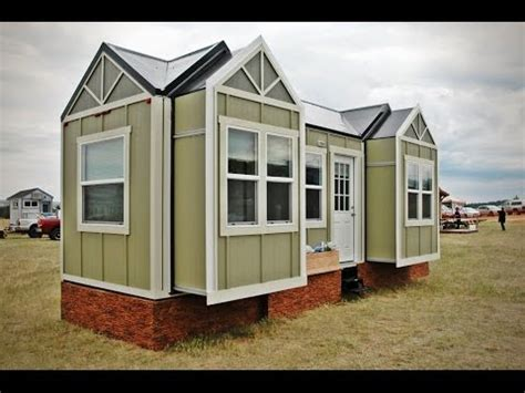 tiny house with slide out tiny house jamboree model has 3 motorized slideouts youtube