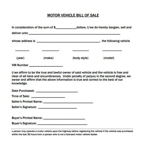 alberta bill of sale form for vehicle legal forms and business