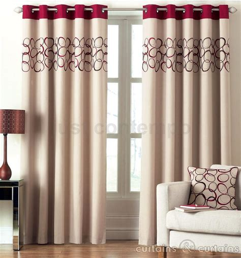 red brown curtains red chocolate brown hoops lined eyelet ring top curtain