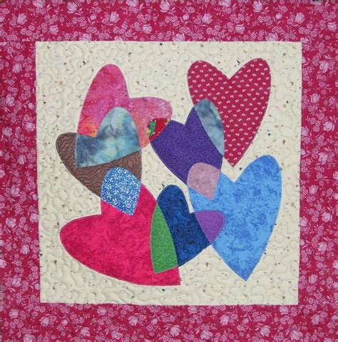 pattern for wall quilt hanger heart puzzle quilted wall hanging by rkcreations craftsy