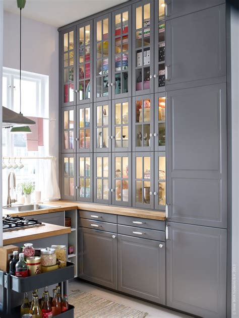 kitchen storage furniture ikea metod k 246 k med bodbyn luckor och l 229 dfronter k 246 k
