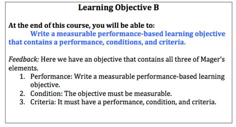 Course Objectives And Outcomes Mba by Northeastern Instructor Resource Center