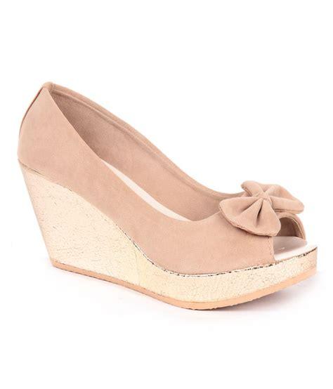 Wedges Slip On Korea 1 anand archies beige wedges slip on heels buy s sandals best price snapdeal