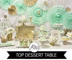 mint green and gold themed parties the party connection your liaison to unique occasions