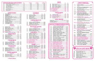 china kitchen mobile menu