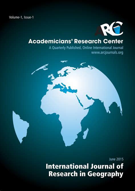 geography journalsopen accessarc journals