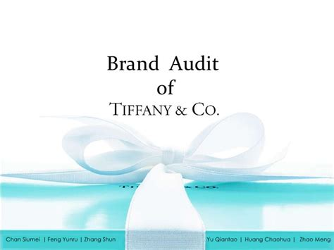 Tiffany Co Brand Audit Brand Audit Template