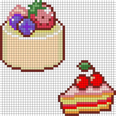 pearler bead patterns cake and cherry cake perler bead pattern bead
