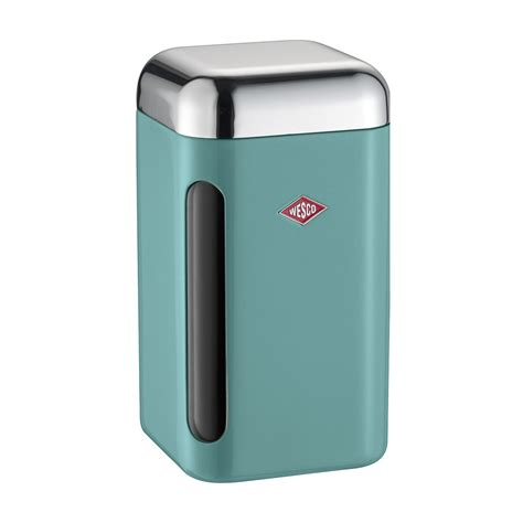 square kitchen canisters buy wesco square canister 1 65l turquoise amara