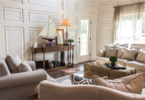 Provence   Transitional   Living Room   birmingham   by Signature Homes